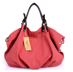 Women#x27;s Handbags Clutch Shoulder Wild Messenger Bag Ladies Rivet Canvas Bags New $31.62