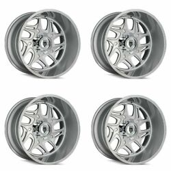 Set 4 24 American Truxx Sweep Brushed Texture 24x14 5x5 Wheels -76mm Rims