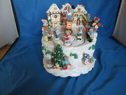 San Francisco Music Box Company Victorian Mouse Village Double Rotational And Box