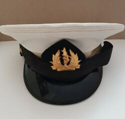 Israel Military Army Idf Navy Badge Officer Cap Hat 70's