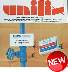 100x Sign Holder For Tubes Posts Unifix Heating Plumbing Chemicals Rohleitung