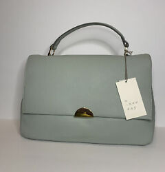 Women#x27;s Satchel Handbag A New Day Aqua Grey Purse Crossbody $16.91