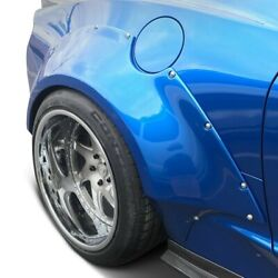 For Chevy Camaro 16-18 Grid Style 3-1/2 Fiberglass Rear Fender Flares Unpainted