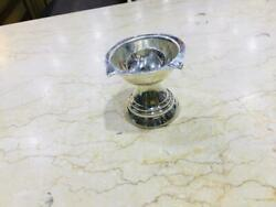 2 In Indian 925 Silver Diya For Home Temple Prey Use In Living Room
