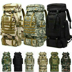 80L Molle Tactical Outdoor Military Rucksacks Backpack Camping Bag Travel Pouch $29.99