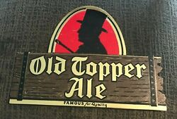 Vintage Old Topper Ale Cardboard Advertising Beer Sign Rochester Brewing Co Ny