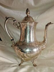 Vintage Sheridan Silver Platted Footed Tea Pot Coffee Pot Marked Classic Guc