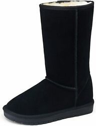 Vepose Womenand039s Winter Boots Suede Snow Booties Warm Mid Calf Booties Classic Win
