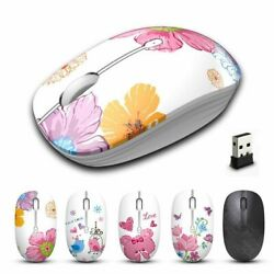 Cute Pink Gaming Mouse 2.4G USB Wireless Silent Mice Laptop Girls Mouse 1600DPI $24.69