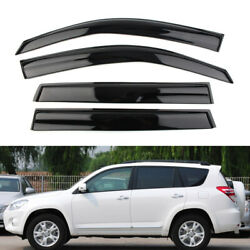 Side Window Vent Visors Rain Guard Deflector For Toyota Rav4 2006-2012 07 08 09