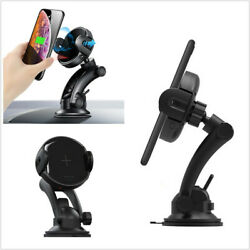 15w Qi Wireless Charger Stand Automatic Infrared Clip Phone Holder For Iphone Xs