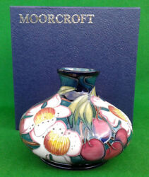 Moorcroft Squat Vase - Accolade By Emma Bossons - Boxed - 3 Star.