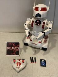 Rad 2.0 Toymax Remote Control Robot Fully Complete W/ Tray Remote Missiles More