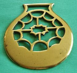 Antique Horse Brass - An Unusual And Hard To Find Cast Pattern