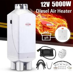5kw 12v Metal Car Diesel Air Heater 10l Tank With Remote Control Lcd Monitor