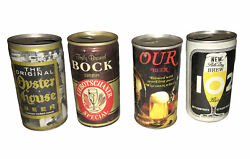 Lot Of 4 Vintage Beer Cans - Oyster House, Our Beer, 102, Etc
