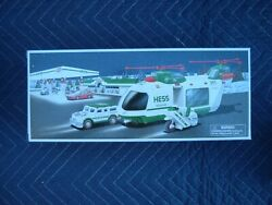 2001 Hess Toy Truck Helicopter With Motorcycle And Cruiser
