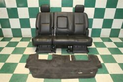 07-14 Tahoe Black Leather Rear Back 2nd Second Row Bench Seat W/carpet Trim Oem