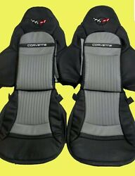 Corvette C5 Real Leather Sports Seat Covers Black And Gray