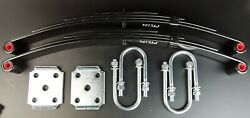 2x1750 Lb Springs And U-bolt Kit For Trailer 3500 Single Axle Suspension H.d.