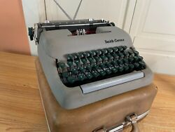 1958 Vintage Smith-corona Sterling 5a Portable Typewriter Working W New Ink And Ca