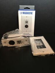 Magnadyne Wc-12v-w Wall Mount White Usb Charger With 2-ports