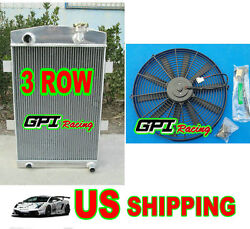 For 56mm 27'' Up To 700hp Custom Aluminum Radiator Chevy 350 V8 Mt 1935 36 Andfan