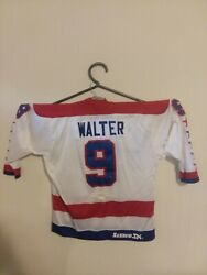 Washington Capitals Home Nhl Game Used Jersey Ryan Walter- Montreal - Vancouver
