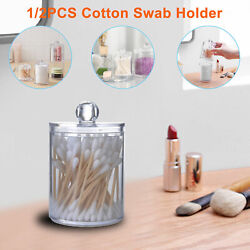 Clear Cotton Pad Swab Container Acrylic Cosmetic Makeup Holder Storage Organizer $7.98