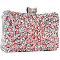 Evening Bags And Clutches Women Crystal Beaded Rhinestone Purse Wedding Party $22.93