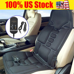 New 8 Mode Massage Seat Cushion With Heated Back Neck Massager Chair Home And Car