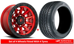 Alloy Wheels And Tyres 20 Fuel Covert D695 For Ford Ranger [mk5] Arch Kit 16-20