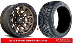 Alloy Wheels And Tyres 20 Fuel Covert D696 For Ford Ranger [mk3] 09-11