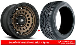 Alloy Wheels And Tyres 20 Fuel Zephyr Truck D634 For Nissan Terrano [mk2] 93-06