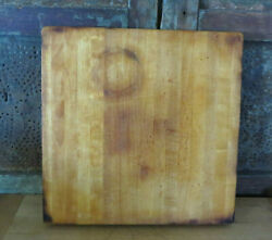 Primitive Wooden Butcher Block Maple Wood Cutting Board Nice Patina And Coloring