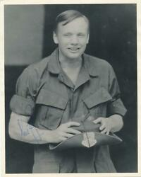 Neil Armstrong- Vintage Signed Matte Finish Photograph