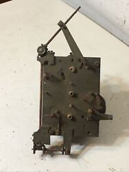 Antique 8 Day Grandfather Clock Movement Parts W/ Automaton Rotating Dial Parts