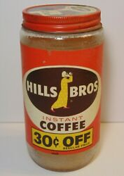 Old Vintage 1959 Hills Brothers Coffee Graphic 1 Pound Coffee Jar San Francisco