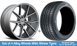 Niche Winter Alloy Wheels And Snow Tyres 19 For Seat Leon [mk3] 11-20