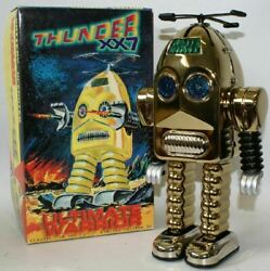 Vintage 1990's Limited Edition Gold Plated Thunder Robot Ultimate Warrior In Box
