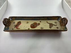Canyon Ranch Collection - Country Western Snack Tray Discontinued 2009