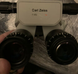Carl Zeiss F170 T Opmi Surgical Inclined Microscope Binocular Eyepieces 10x 22b