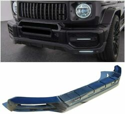 Mercedes G63 For Amg Bumper W463a Front Carbon Lip Spoiler Led Set Brabus Style