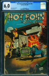 Hot Rods And Racing Cars 15 Cgc 6.0-1954-flaming Race Car Cover 3712149016