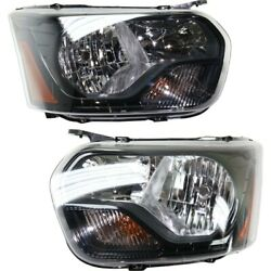 Pair Set Of 2 Headlights Lamps Left-and-right Ck4z13008j Ck4z13008l Lh And Rh