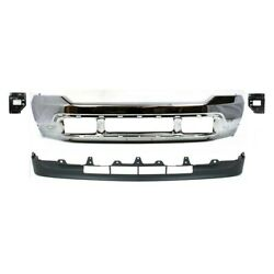 Set Of 4 Bumper Face Bars Chrome Front For F250 Truck F350 F450 F550 Ford 01-04