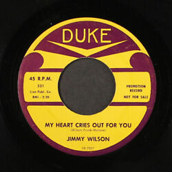 Jimmy Wilson Easy Easy Baby / My Heart Cries Out For You Duke 7 Single 45 Rpm