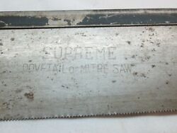 Vintage Antique Supreme Dove Tail Saw Mitre Cuts 9 3/4