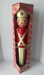 Vintage Electrified Christmas Toy Soldier Blow Mold- New In Box- 2903