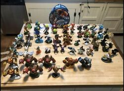 Sky Landers Lot Of Game Discs, Portals, Figures A Carrying Case And More